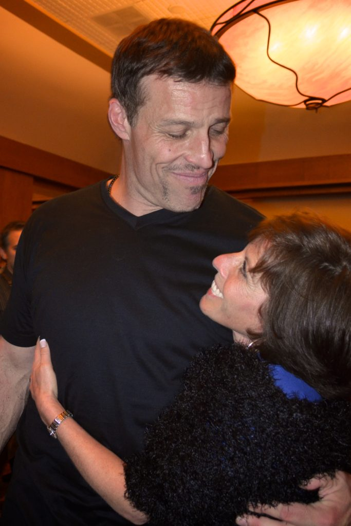 Tony Robbins and Lisa Lieberman-Wang shared FINE to FAB Book