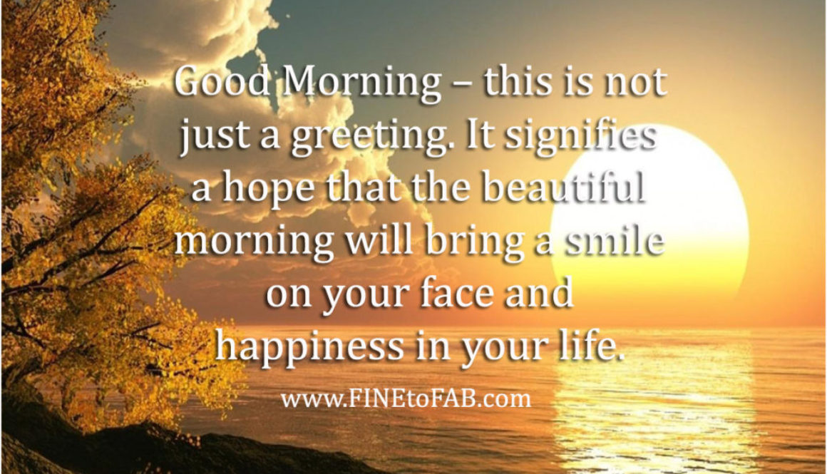 Inspirational Good Morning Quote