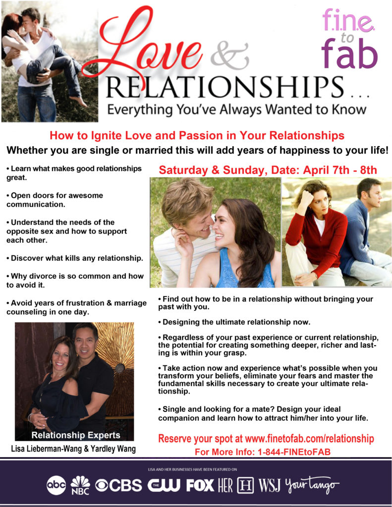 Relationships Flyer FINE to FAB promos